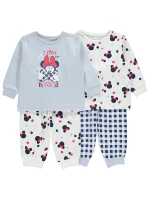 Disney Minnie Mouse Long Sleeve Pyjamas 2 Pack