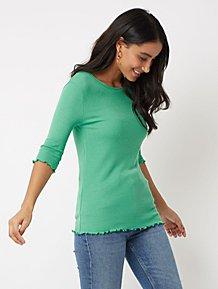 Green Ribbed Lettuce Edge Top 6743f6138