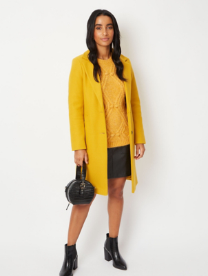 Ochre Longline Formal Coat
