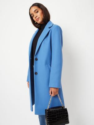 Blue Longline Formal Coat