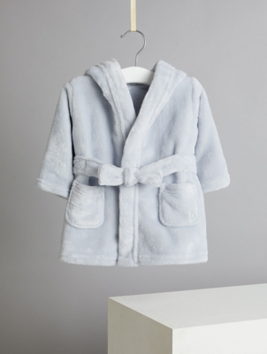 Billie Faiers Blue Fleece Bunny Rabbit Dressing Gown