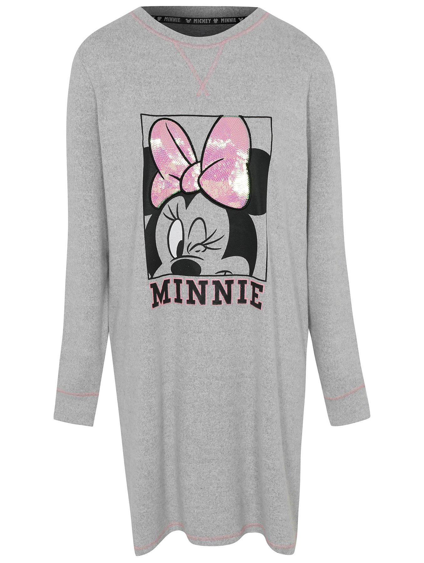 baby special promotion hot-selling Disney Minnie Mouse Grey Sequin Detail Nightdress