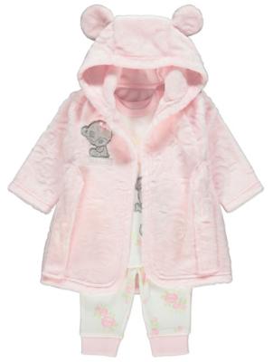 Tatty Teddy Fleece Dressing Gown and Pyjamas Set