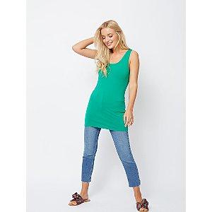 Green Longline Vest Top