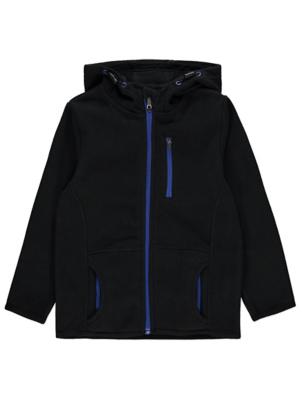 Black Fleece Zip Hoodie