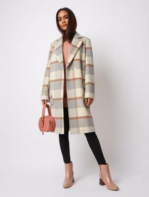 Grey Tonal Check Formal Coat