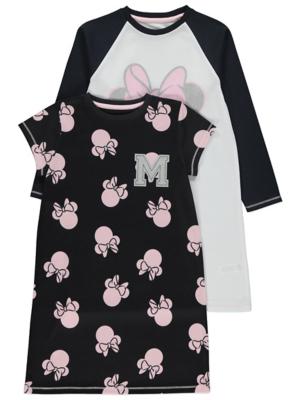Disney Minnie Mouse Black Nightdresses 2 Pack