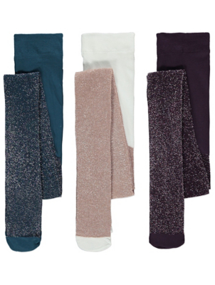 Glittery Tights 3 Pack