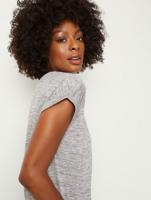 Grey Textured Sports Top
