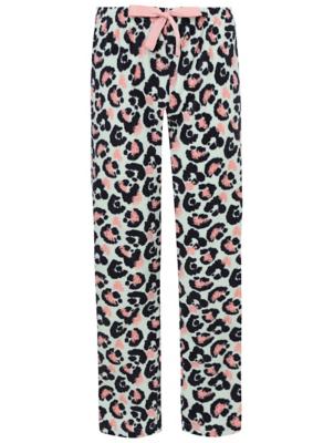 Blue Leopard Print Fleece Pyjama Bottoms