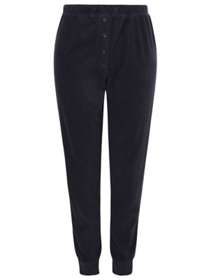 Navy Fleece Pyjama Bottoms