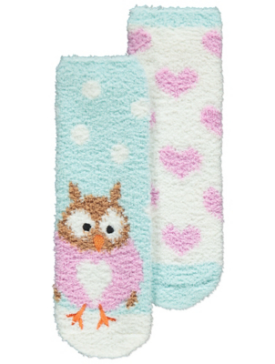 Blue Owl Cosy Lounge Socks 2 Pack