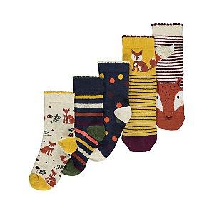 Woodland Animal Ankle Socks 5 Pack