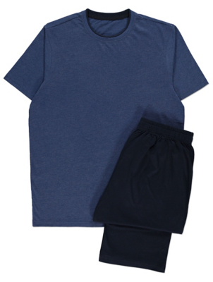 Blue Short Sleeve Pyjamas