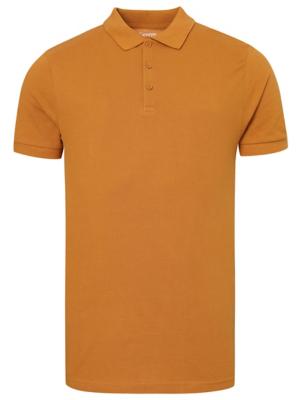Ochre Pique Polo Shirt