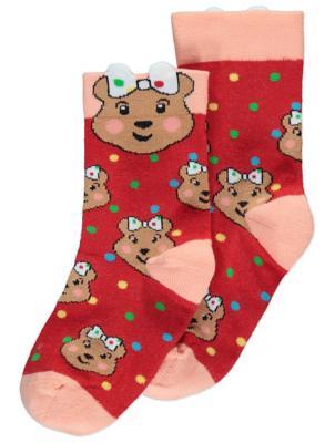 Children in Need Blush Bear Ankle Socks