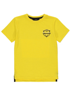 Yellow Skate Print T-Shirt