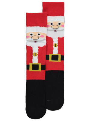 Red Santa Musical Christmas Socks