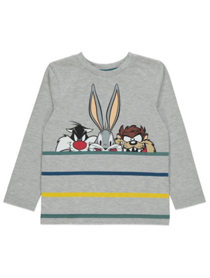 Looney Tunes Grey Long Sleeve Top
