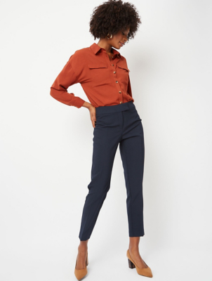 Navy Tapered Trousers