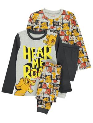 Disney The Lion King Pyjamas 2 Pack