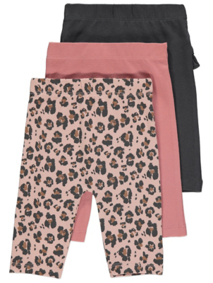 Pink Leopard Print Leggings 3 Pack