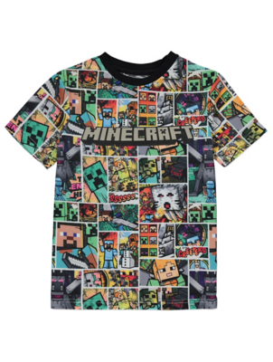 Minecraft Comic Panel Graphic T-Shirt