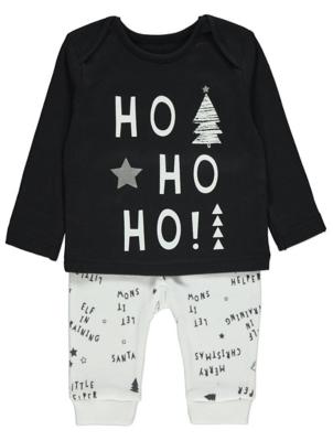 Ho Ho Ho Slogan Christmas Pyjamas