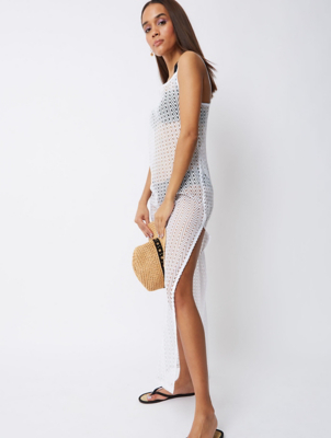 White Lace Maxi Cover Up Dress