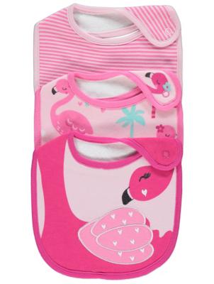 Pink Flamingo Bibs 3 Pack