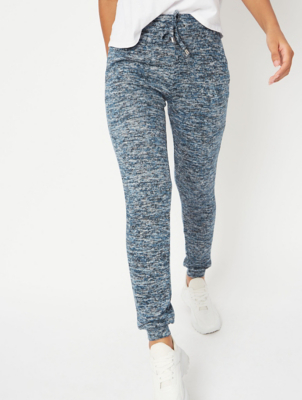 Blue Marl Knitted Jogging Bottoms