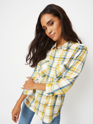 Mustard Yellow Check Shirt