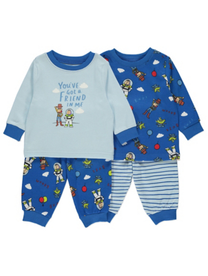 Disney Toy Story Buzz and Woody Pyjamas 2 Pack