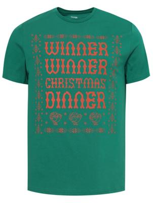 Green Christmas Slogan T-Shirt