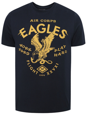 Navy Eagle Print T-Shirt