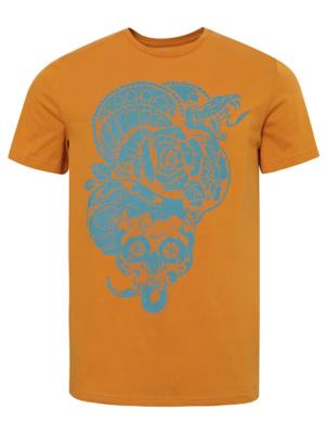 Mustard Snake Print T-Shirt