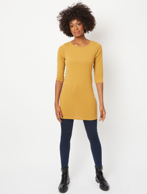 Dark Ochre Longline Tunic Top