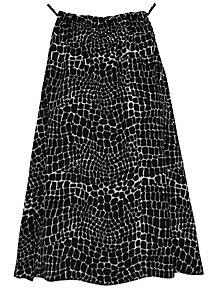 058d327fadb5ba Black Snake Print Trapeze Camisole Top