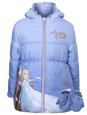 Disney Frozen 2 Anna & Elsa Coat with Mittens