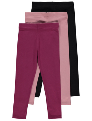 Assorted Purple and Black Leggings 3 Pack