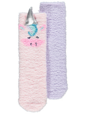 Unicorn Face Cosy Lounge Socks 2 Pack