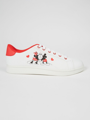 Disney Mickey and Minnie Mouse White Trainers
