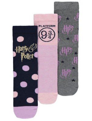 Harry Potter Logo Socks 3 Pack