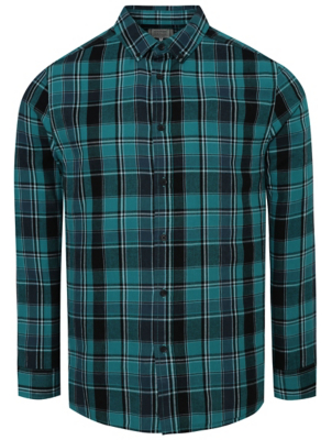 Teal Checked Shirt
