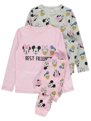 Disney Minnie Mouse and Daisy Duck Pyjamas 2 Pack