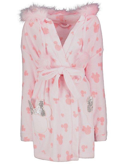 Minnie Mouse Ladies short length fleece bath robe