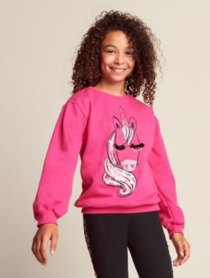 Pink Glamorous Unicorn Sweatshirt