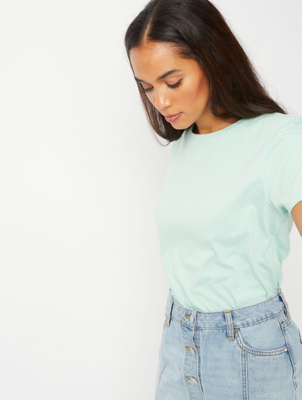 Mint Blue Crew Neck T-Shirt