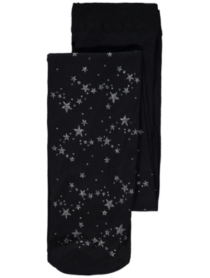 Halloween Glitter Star Tights