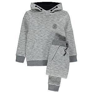 Grey Marl Hoodie and Joggers Outfit